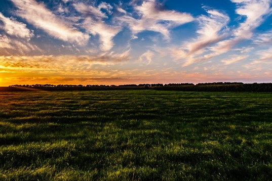 afterglow-clouds-countryside-571326